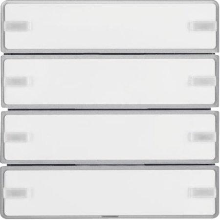 Tastsensor 4fach Komfort mit Beschriftungsfeld KNX Q.x alu samt lackiert Hager 80144321
