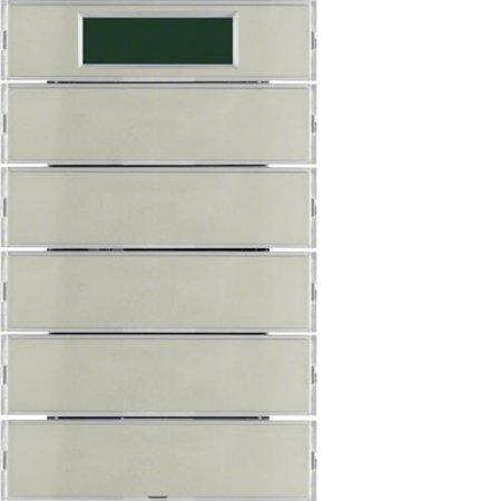 Tastsensor 5fach mit RTR Display K.5 Edelstahl Hager 75665773