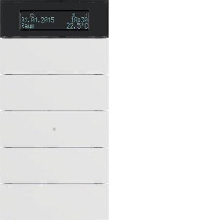 Tastsensor 5fach mit Temperaturregler und Display B.IQ polarweiß matt Hager 75665599