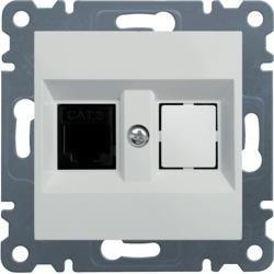 Telefonanschluss einzelne RJ11, weiß WL2010 Lumina Hager