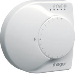Temperaturregler- Einzelraum zur Steuerung v. Heizungsakt.o.Stellantrieben  KNX Hager TX320
