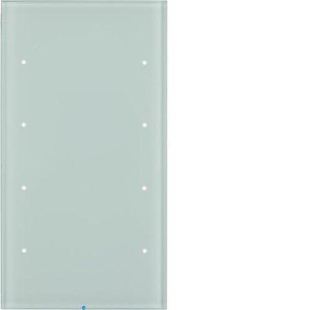 Touch-Sensor 4fach Komfort R.3 Glas polarweiß Hager 75144850