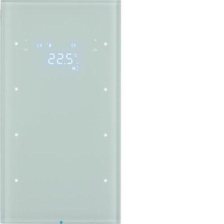 Touchsensor 3fach mit Temperaturregler R.3 Glas polarweiß Hager 75643050