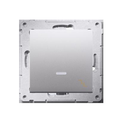Treppenschalter (Modul) mit Aufdruck LED Silber matt Kontakt Simon 54 Premium DW6AL.01/43