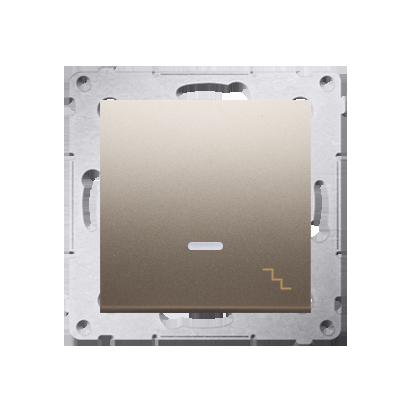 Treppenschalter (Modul) mit Aufdruck und Beleuchtung Gold Kontakt Simon 54 Premium DW6L.01/44