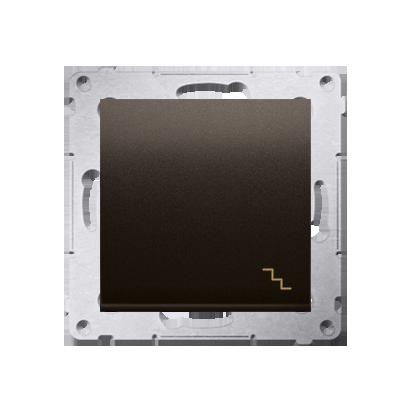 Treppenschalter (Modul) mit Aufdruck und Braun matt Kontakt Simon 54 Premium DW6A.01/46