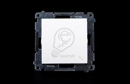 Treppenschalter (Modul) mit Aufdruck und Steckklemmen weiß Simon 54 Premium Kontakt Simon DW6.01/11