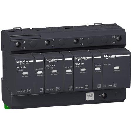 Überspannungsableiter PRD125r-T12-3N 3+1-polig Typ1+Typ2 25 kA mit Kontakt Schneider