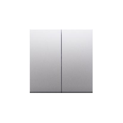 Wippe für Schalter/Taster 2fach Silber Simon 54 Premium Kontakt Simon DKW5/43