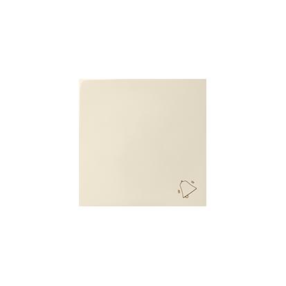 Wippe mit Symbol Klingel beige matt 1fach Kontakt Simon 82  82017-31